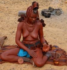 """Himba Girl """"Bathing""""- Namibia"""