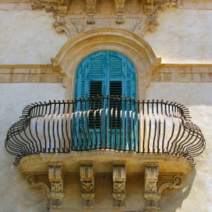 Blue Shutters - Noto Sicily