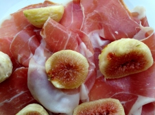 Prosciutto and White Figs