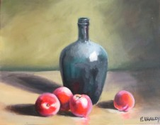 Bottle and Peaches - $195 - 50cm x 40cm - SOLD
