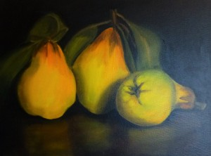 Quinces - $95- 40cm x 30 cm - SOLD