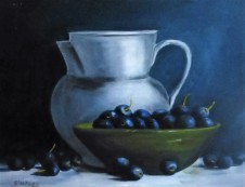 Blueberries and Jug - $145 - 40cm x30cm SOLD