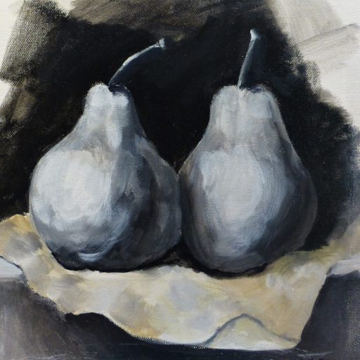 Pear Study - 30x30cm - Oil on canvass - $175