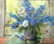 delphiniums-acrylic-on-canvass-sold