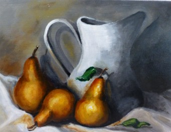 Pears and Jug 40x30cm - $175