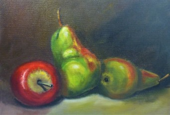 Apple and Pears 35x25cm - $175