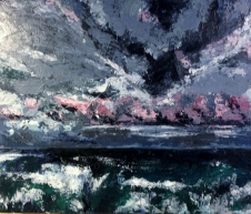 Storm at Sea palette-knife acrylic on canvass-sold